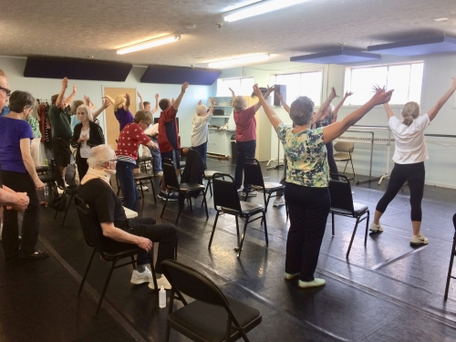 First ParkinDance class at HappenDance School, May 9, 2018
